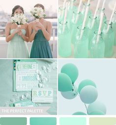 Shades of Teal & Mint