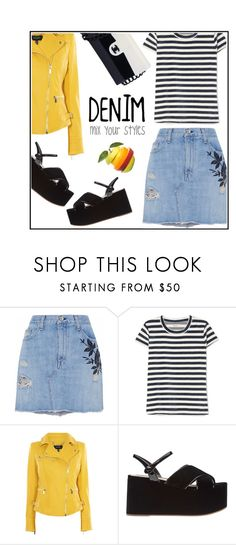 """Mixed Styles"" by ceci4diplomazy ❤ liked on Polyvore featuring rag & bone/JEAN, Madewell, Karen Millen, Chanel and denimskirts"