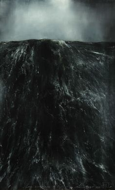 Thierry De Cordier MER HAUTE,2011 Oil paint on panel, Image via http://www.xavierhufkens.com/artists/thierry-de-cordier