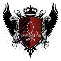 Image detail for -Coat of Arms and Wings Royalty Free Stock Vector Art Illustration