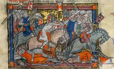 The Rochefoucauld Grail 1315 – 1323. With 107 miniatures illustrating warfare, chivalry and courtly love. It contains the Lancelot-Grail cycle in French prose, the oldest and most comprehensive version of the legend of King Arthur and the Holy Grail.