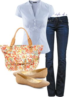 """""""Casual Floral Tote Bag"""" by styleofe on Polyvore"""