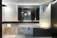 Casas de banho minimalistas por KUOO ARCHITECTS