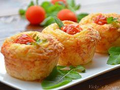 briose-cu-cascaval-si-sunca12 Mozzarella, Shrimp, Good Food, Meat, Beef, Yummy Food