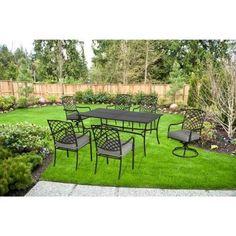 On Sale $399 Hampton Bay Ashtabula 7 Piece Patio Dining Set FSS60445ST   The