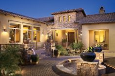 Beautiful Patio Enhances The Entry Of This Toll Brothers Home At