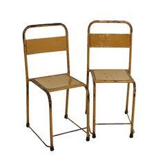 Raw Materials iron chairs yellow