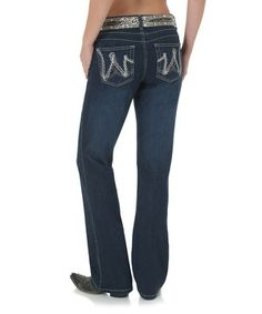 Love this Dark Blue Q-Baby Booty Up Bootcut Jeans - Women & Plus by Wrangler on #zulily! #zulilyfinds