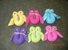 Boo Boo Owls Washcloths-Shower Favors