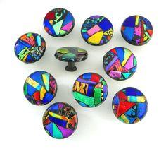 Mosaic+Glass+Cabinet+Hardware+Knob++by+UneekGlassFusions+on+Etsy,+$32.00