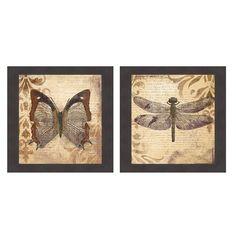 <li>Artist: Patricia Pinto</li> <li>Title: Butterfly & Dragonfly</li> <li>Product type: Framed Print</li>