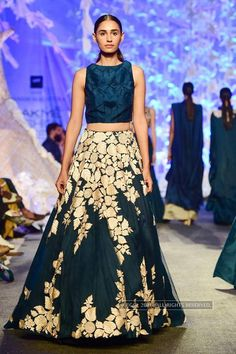 LFW '16 : A model walks the ramp for Manish Malhotra during the Lakme Fashion…