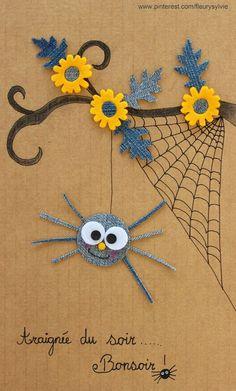 Araignée du soir....Bonsoir !! #jeans #recycle http://pinterest.com/fleurysylvie/mes-creas-la-collec/ et www.toutpetitrien.ch
