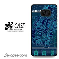 R2D2 Blue Print DEAL-9083 Samsung Phonecase Cover For Samsung Galaxy Note 7