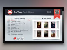 Library Template for Digital Signage
