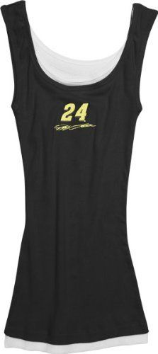 Jeff Gordon Women's Black Supreme Layered Tank Top by College Concepts. $19.99. Hey ladies--why not beat the heat while sporting your NASCAR pride in this Jeff Gordon Women's Red Supreme Layered Tank Top? This 100% cotton 2x2 rib knit tank top features quality embroidery on the center front.