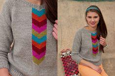 Emmanuelle sweater by Mercedes Tarasovich-Clark for Knitscene fall 2013