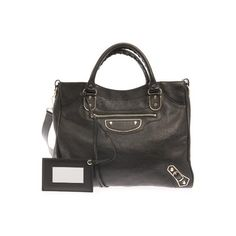 BALENCIAGA Classic Velo edge-line leather tote (15,305 HKD) ❤ liked on Polyvore