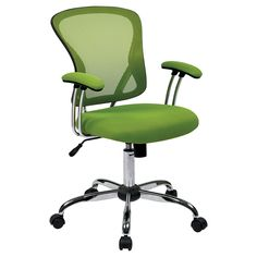 Target $136 Get to work in style with the Juliana Task Chair from Office Star. This chair features a fun mesh covering on the padded armrests and seats, as well as across the broad, supportive back. Customize this mesh task chair's position with the tilt and height adjustments to get in the perfect position for focused work. If you need to move around your space, five rolling casters make it easy to move this chair from room to room or move across your office.