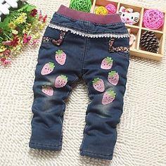 Girl's Winter Micro-elastisch Dik Spijkerbroeken ( Denim )(2304989) – EUR € 13.64