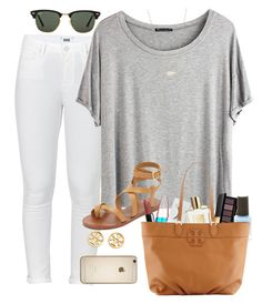 """""""Untitled #10"""" by cspush ❤ liked on Polyvore featuring Paige Denim, Chicnova Fashion, Ray-Ban, Tory Burch, Kendra Scott, Maybelline and Yves Saint Laurent"""