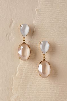 Noemi Drop Earrings from @BHLDN | Wedding Drop Earrings #GoldJewelryearringsawesome