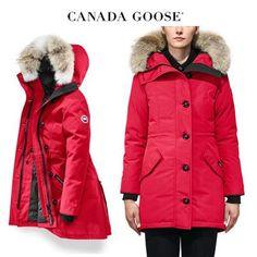 CANADA GOOSE ダウンジャケット・コート CANADA GOOSE Rossclair Parka Fusion Fit ビビッドなレッド Canada Goose Women, Canada Goose Jackets, Parka, Winter Jackets, Fitness, Coats, Fashion, Winter Coats, Moda