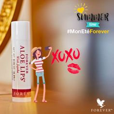 , your chapped lips with Forever Aloe Lips Aloe Vera, Forever Aloe Lips, Aloe Drink, Bee Free, Forever Life, Forever Living Products, Body Care, Chapped Lips, Personal Care