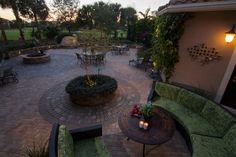 Romanesque Circles create a unique accent to any backyard patio