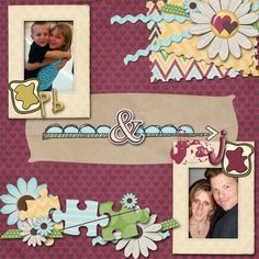 Layout by MelissaKayl using We Go Together Digital Scrapbooking kit by Simple Girl Scraps