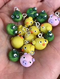 Girl's Bracelet//Handmade Chick Bracelet//Miniature Chicks//Polymer Clay Chicks//Children's Bracelets//Bracelets for Girls//Girl's Jewelry by VirginiaLagoArt on Etsy
