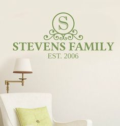 Just ordered this family name decal in black for over our front door!  Lots of color options &  $11.99 is a great deal!
