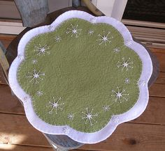 Snowflake penny rug.....