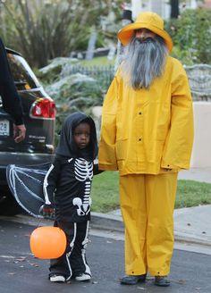 Sandra Bullock & son Louis #Halloween