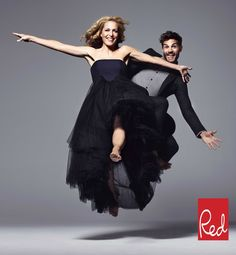 Gillian Anderson and Jamie Dornan appear in RED magazine