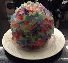 We're celebrating with rock candy CLUSTER CAKE! Credit goes to Christy Cohen for this amazing creation! Fancy Desserts, Rock Candy, Edible Art, Rwby, Steven Universe, Behind The Scenes, Cartoons, Cake, Third Birthday