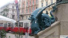 Der Schutzengelbrunnen an der Wiedener Hauptstraße / Margarethenstraße - Wien