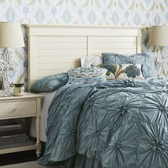 You can make anyplace feel like a summer home in New England with Pier1's charming Cottage Headboard.