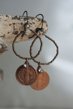 Vintage assemblage earrings french cut by frenchfeatherdesigns, $58.00
