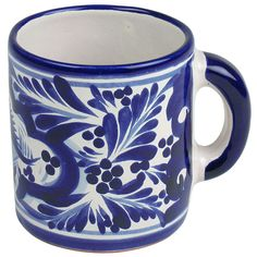 Talavera Blue & White #Coffee Mug | #Mexican #Dishware