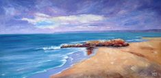 I am an artist who is passionate about Australia. I paint nature-inspired oil paintings of forests, flowers, the outback, gum trees and the sea. Small Paintings, 30 Day Challenge, Larger, February, Smooth, Waves, Calm, Sky, Texture