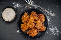 Indian Fried Chicken With Yogurt Dipping Sauce