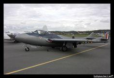 De Havilland Vampire T.11 (DH-115) - F-AZKF. Another successful training version of an early jet fighter/attack a/c. Dutriaux Jean Pierre, Le Touquet Paris-Plage - LFAT, 04.10.2003.