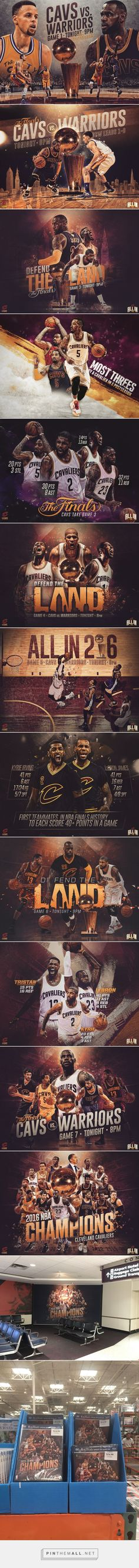 2016 Cleveland Cavaliers NBA Finals Graphics Package on Behance - created via https://pinthemall.net