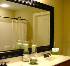 Bathroom Mirror Frame Tutorial – Remodelaholic