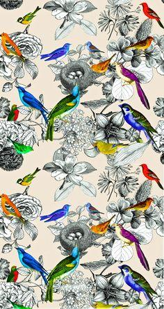Home Tweet Home - Birds Nesting Pattern by BY CSERA. Society6.com
