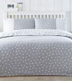 Grey dotty bed