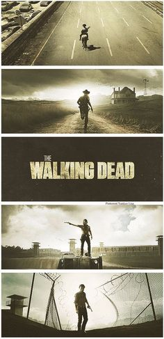 The Walking Dead - season posters - love that Rick is the only person in all of them.