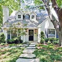 Cottage homes are among the most charming and quaint. Learn what makes the cottage home style uniqe and special in this article. Cottage Style Living Room, Cottage Style Bathrooms, Cottage Style House Plans, English Cottage Style, Cottage Style Decor, Cottage Style Homes, English Cottage Exterior, English Cottages, Modern Cottage Style