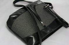 Kabelky - kabelka Rita čierno-šedá